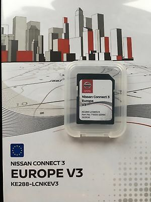 LATEST GENUINE NISSAN CONNECT 3 V3 NAVIGATION SD Card 2018 QASHQAI NOTE JUKE MAP