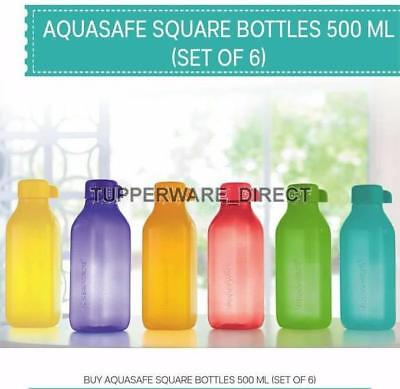 Tupperware  Aqua Safe Square ( 500 ml ) 16oz Water Bottle - Set of 6