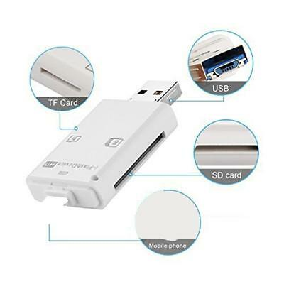 i Flash Drive Lighting Reader TF/SD Memory Card Reader for PC iPhone 8 7 6 iPad~