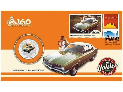 2016 Holden Heritage Collection LJ Torana GTR 50c Coin - PNC Stamp & Coin Cover