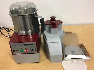 Robot Coupe R2 Ultra 3 Quart Food Processor w/ S Blade and Slicer Blade