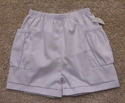 Little English Kids Size 10 Elastic Waist Shorts Solid White With Pockets New