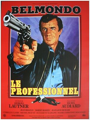 LE PROFESSIONNEL Affiche Cinéma 53x40 Movie Poster JEAN PAUL BELMONDO