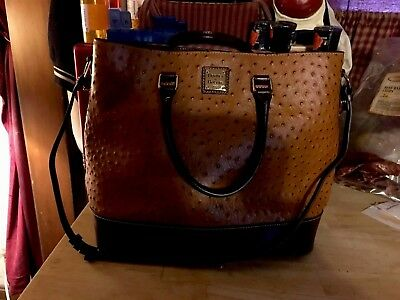 Dooney & Bourke Butter Tan Ostrich Large Tote