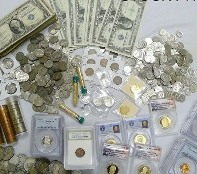 Fantastic Gift Coin Lot! Silver,gold,100 Years, Hoard, More! 10+ Items!
