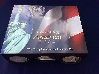 1999-2009, 50 State Quarters, Plus Territory's, Complete Set in Collectors Box