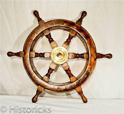 Wooden Ship Wheel 18 Inch ( pirate / boat / nautical )