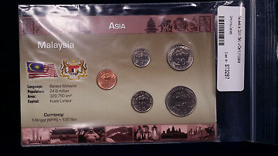 UNCIRCULATED Malaysia Coin Set and Certificate