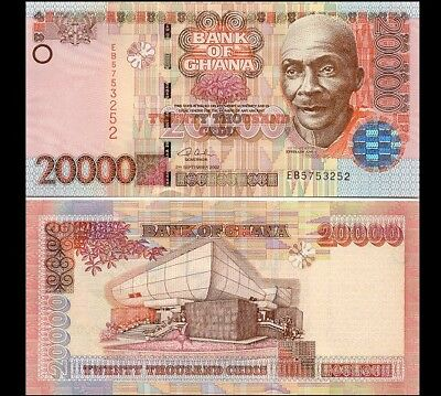 GHANA BANKNOTE, 20000 CEDIS 2003, The Inflation Series, Circulated