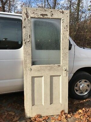HO chicken wire glass entrance door 35 5/8 x 83.25