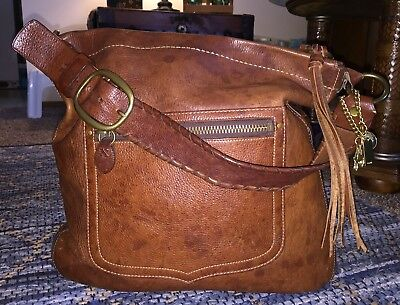 COACH Thompson Anniversary Legacy Whiskey Leather Shoulder Tote Bag Purse GREAT!