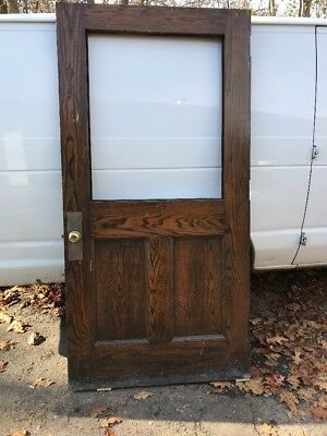 HO antique oak entry door 31.75 x 83.5