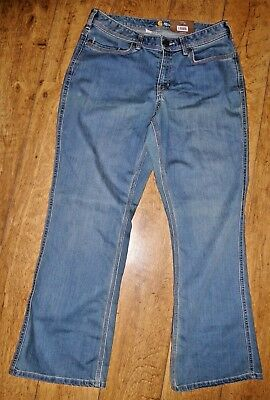 NEW Carhartt Relaxed Fit Jasper Blue Improved Stretch & Recovery Jean, 14 Short