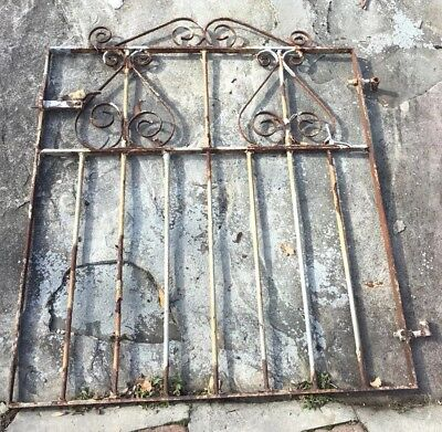 Antique Architectural Salvage Cast Iron Garden Gate