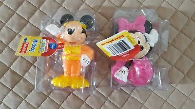 Mickey Mouse Scuba Diver & Minnie Mouse Mermaid Baby Toy Bath Squirters New