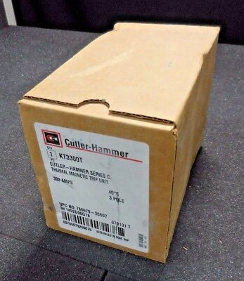 Cutler-Hammer KT3300T Series C Thermal Magnetic Trip Unit (300A, 40˚C, 3-Pole)