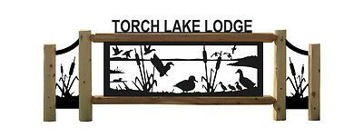 Personalized Duck Cedar Log Sign - Waterfowl Signs