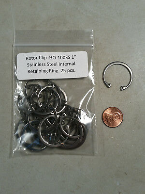 "1"" Internal Stainless Steel Retaining Rings ROTOR CLIP HO-100SS 25 pc."
