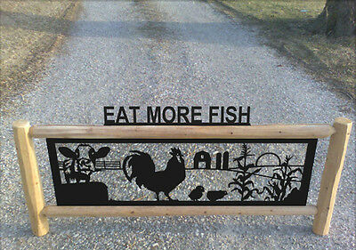 Farm Sign With Cows - Chickens - Roosters