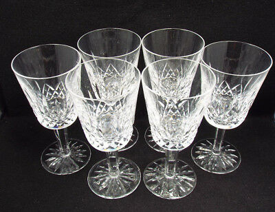 """Waterford Crystal 6 Lismore Water Goblets, 6 7/8"""", with box"""