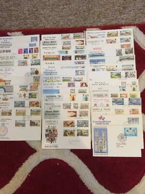 Job Lot 40 First Day Covers Isle Of Man