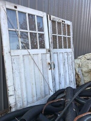 Matching Pair Antique Carriage Doors 97 Inch Wide By 96 Inch High