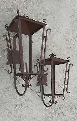 Spanish Revival Wrought iron Gothic Medieval Castle  Mexico Lighting