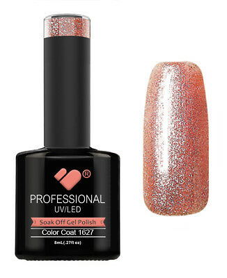 1627 VB Line Pink Rose Gold Chameleon Metallic - gel nail polish - gel polish