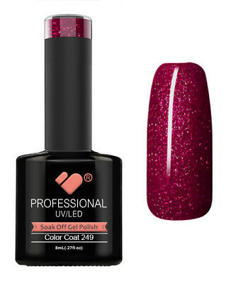 249 VB Line Burgundy with Gold - gel nail polish - super gel polish