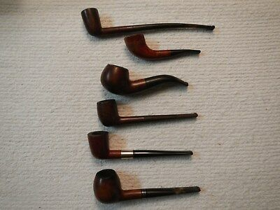 Vintage Lot Of 6 Estate Tobacco Pipes All Different Brands