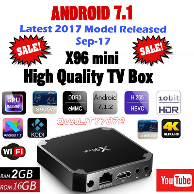 New Android 7.1 2GB 16GB S905W 4K Ultra HD Kodi Player WIFI MXQ Smart TV BOX