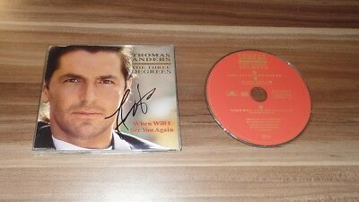 Thomas Anders *Modern Talking* original signed CD-Cover *The Three Digrees* + CD