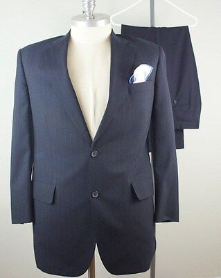 42R, 36 x 29 Men BROOKS BROTHERS 1818 Brooksease Stripe Gray Suit 062