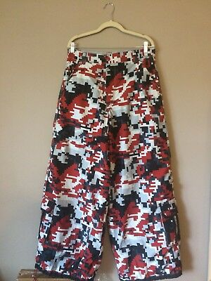 MacGear 2-in-1 Red Camo & Grey Reversible Vintage Phat Pants Size Medium