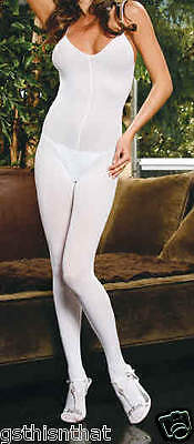 Slimming Body Stocking White Opaque Hosiery New Queen One Size E1601Q