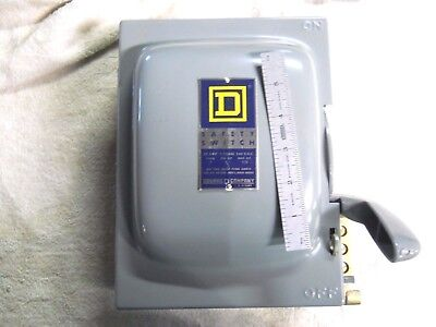 """New Vintage Usa Made Square """"d"""" 30 Amp Heavy Duty Safety Switch With Box"""