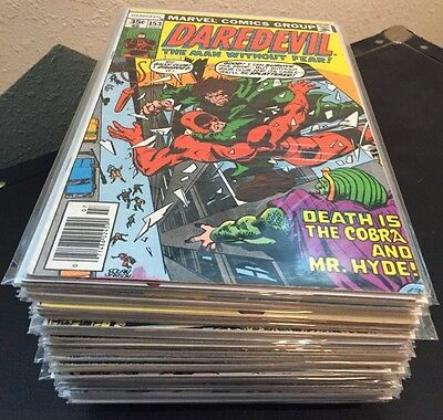 DAREDEVIL vol. 1 Marvel Comics LOT of 52 Issues ~ from VG to NM #'s in details
