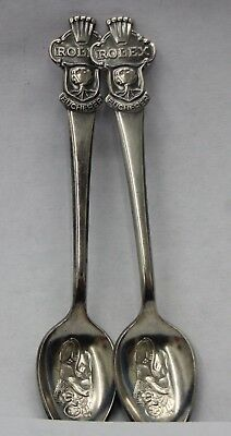 Rolex Bucherer of Switzerland CB 69 M Silver Plated Spoons, Set of Two