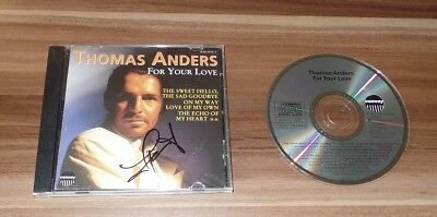Thomas Anders *Modern Talking*, original signed CD-Cover *For your Love* + CD