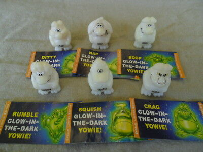 Yowies Spring Sale *series 8 Glow In The Dark Yowies * All 6 Limited Editions