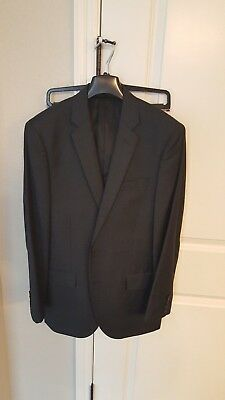 J Crew Ludlow Worsted Wool 3 Piece Suit Navy 39r 33x30 M