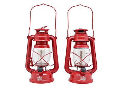 2 Old Brooklyn Vintage Style Lantern Portable Outdoor LED Taclight Antique Lamp