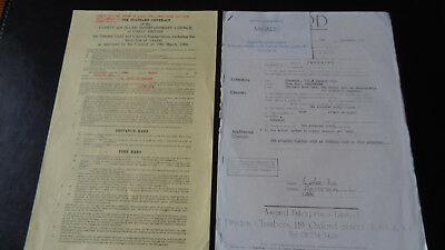 Hawkwind  Concert Contract Town Hall Cheltenham 14 May 1972 + Asgard 1974 Letter