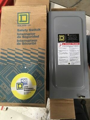 Square D H321N 30amp 240v fused disconnect safety switch new in box. #5485