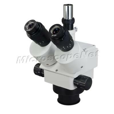 Zoom Stereo Trinocular Microscope Head (84mm in Diameter) Only 3.5X-90X