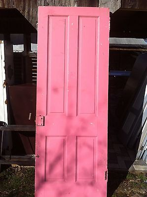 """Vtg Architectural Salvage Wood Farm  Door Shabby Chick  Dining Table """""""