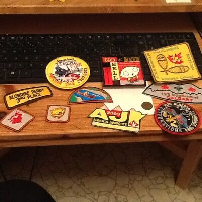 Lot of 10 vintage boy scout badges, patches and accessories lot 38