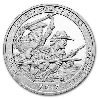 SPECIAL PRICE! 2017 5 oz Silver ATB George Rogers Clark National Park, IN