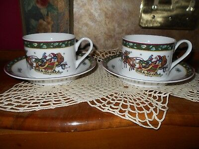 Set of 5 International China Susan Winget A Christmas Story Saucers ...