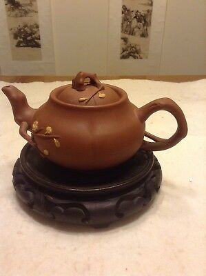 Chinese Yixing Pottery Purple Sand Zisha Teapot Made In The 70s.
